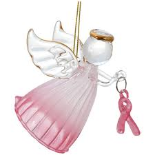 pink ribbon glass ornament the breast cancer site