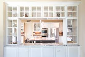 built in bookcases with glass doors dining room built in wall