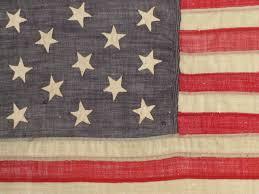 13 Stars In The United States Flag Rare 13 Star Flag Civil War Era Hand Sewn Stars Sku 9375 Sold