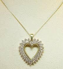 heart gold necklace diamonds images Diamond heart jpg