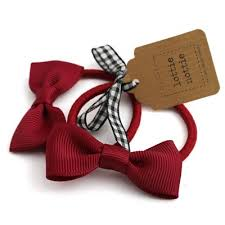 hair bands burgundy bow hair bands pair lottie nottie