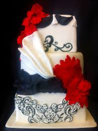 red white and black wedding cake cakecentral com