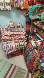 new colorful karma living design pillows ottomans artifacts rugs