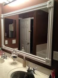 framed bathroom mirror ideas mirror frame ideas iammizgin com
