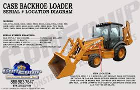 serial number location for your case backhoe