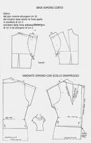 patron veste kimono i quaderni di studio manie cartamodello kimono corto esempio