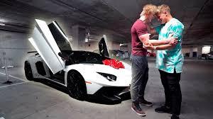 jake paul car i bought my brother his dream car lamborghini aventador
