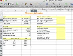 Credit Ratings Table by Exp Ech02 H3 Mortgage Calculator 1 3 Project Des Chegg Com