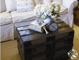 vintage trunk coffee table diy love the idea antique victorian steamer trunk used as a coffee