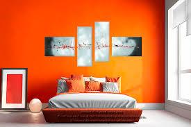 Idees Peinture Salon by Peinture Blanc Orange Salon U2013 Chaios Com