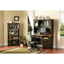 gascony contemporary computer desk ebony spice wood desks