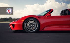 red porsche black wheels red porsche 918 spyder with dark clear hre wheels gtspirit