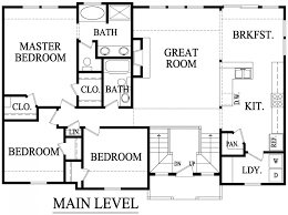 split floor plan home design