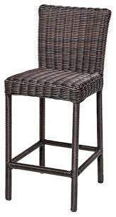 Venice Outdoor Furniture by Tkc Venice Outdoor Wicker Bar Stools In Chestnut Brown Set Of 2