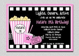 movie ticket birthday invitation template