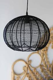 black round rattan pendant milly and eugene