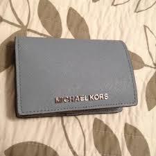 michael kors light blue wallet michael kors clutches wallets light blue mk wallet poshmark