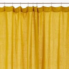 Charcoal Shower Curtain Lissoy Linen Shower Curtain Chartreuse