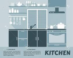 ustensiles de cuisine en c plat bleu cuisine design d intérieur avec des étagères placards