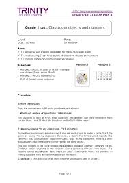 sample staff accountant resume gese grade 1 lesson plan 3 classroom objects and numbers final