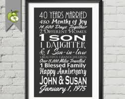 40th wedding anniversary gifts 1st anniversary gift wedding subway husband