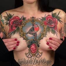 40 inspirational breast tattoos and chest tattoos chest piece