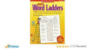amazon com daily word ladders grades 2 u20133 100 reproducible word
