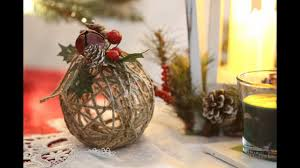 rustic twine ornament diy