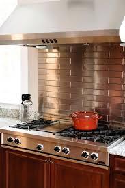 stainless steel backsplashes for kitchens stainless steel backsplash with shelf view in gallery kitchen corner