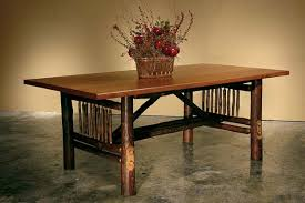 Hickory Dining Room Table by Craftsman Hickory Dining Tables