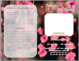 funeral bulletin template for obituary program by sammbither on