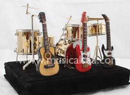 miniature drum set with three guitar gift miniature musical