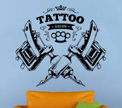 compare prices on tattoos wall decal online shopping buy low 2017 new tattoo salon wall decal tattoo parlor vinyl sticker shop logo wall art decor