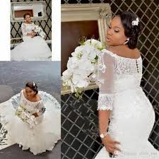 african plus size wedding dresses 2017 half sleeve lace appliques