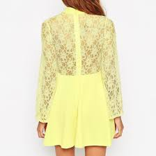 vintage yellow color spring dress collection picture more detailed picture about new