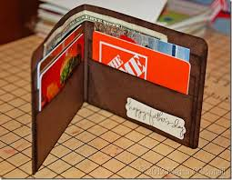 gift card wallet handmade paper wallet filled with gift cards and a pic of
