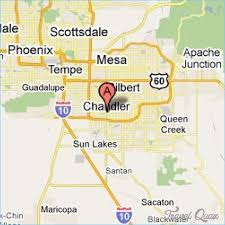 map of chandler az chandler map travel map travelquaz com