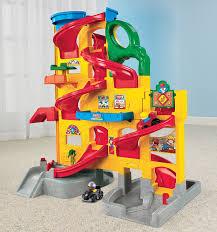 How Big Is A 3 Car Garage Amazon Com Fisher Price Little People Wheelies Stand U0027n Play