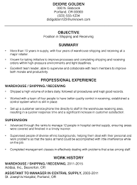 Warehouse Clerk Resume Sample 10 Shipping And Receiving Clerk Resume Resume Shipping And