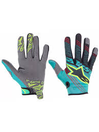alpinestars motocross gloves alpinestars teal black yellow 2017 radar tracker mx gloves