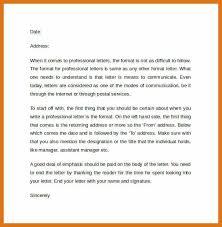 professional letter formats business letter format sample