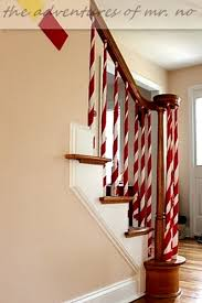 Banister Decor Christmas Staircase Decorating Ideas Pink Lover