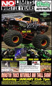 monster trucks racing decatur 17 poster