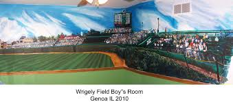 mural examples mural photo album by maasart murals this mural of wrigley field fills a boy s bedroom