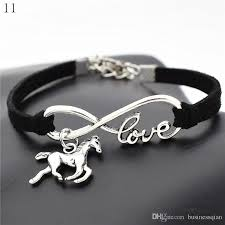 bracelet infinity love images 2018 fashion antique silver infinity love lucky horse pendant jpg