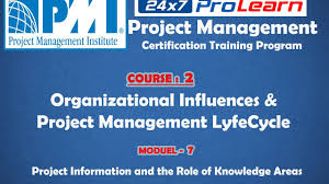 07 pmp organizational influences u0026 pm lyfecycle project pmp organizational influences u0026 pm lyfecycle project information and the role of knowledge