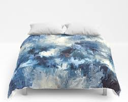 blue bedding etsy