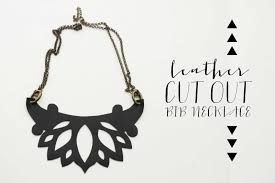 leather bib necklace images Diy cut out leather bib necklace minted strawberry jpg