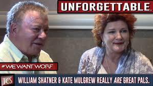 William Shatner Meme - william shatner kate mulgrew share an unforgettable moment with