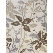 home decorators area rugs home decorators collection blooming flowers ivory 7 ft 10 in x 9